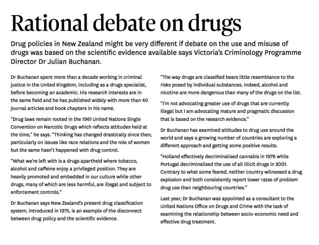 Rational Debate on Drugs