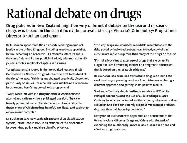 Rational Debate on Drugs